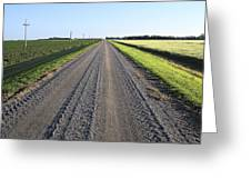 Road Across North Dakota Prairie Greeting Card