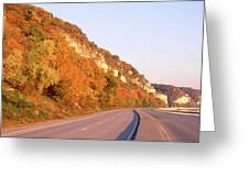 Road Along A River, Great River Road Greeting Card
