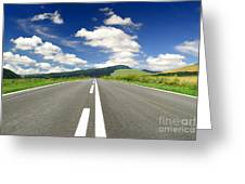 Road And Beautiful Sky Greeting Card by Boon Mee