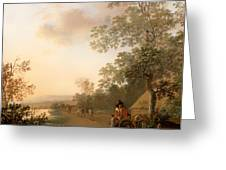 Road By The Edge Of A Lake Greeting Card