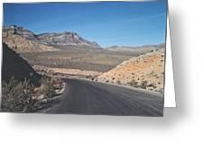 Road In Desert Greeting Card