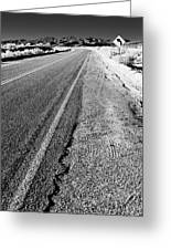 Road In The Desert #1 Greeting Card