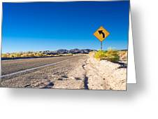 Road In The Desert #2 Greeting Card