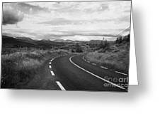 road leading to molls gap on the Iveragh Peninsula Ring of Kerry Ireland Greeting Card