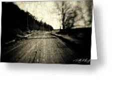 Road Of The Past Greeting Card