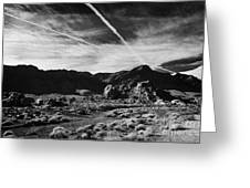Road Past Sandstone And Limestone Fault Formations In Valley Of Fire State Park Nevada Usa Greeting Card