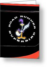 Road Runner Superbird Emblem Greeting Card by Jill Reger
