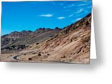 Road Through Badwater Greeting Card