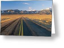 Road Through Desert Greeting Card