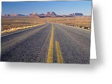 Road Through Monument Valley, Utah Greeting Card