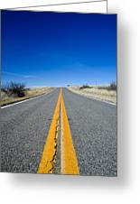 Road Through Sulphur Flats Greeting Card