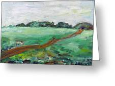 Road Through The Field Greeting Card