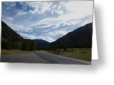 Road Through The Mountains Greeting Card