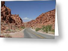 Road Throught The Valley Of Fire Greeting Card