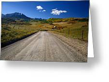 Road To A Beautiful Valley Ranch Greeting Card