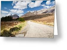 Road To Beinn Eighe Greeting Card