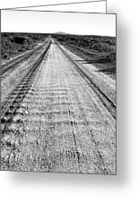 Road To Everywhere Bw Greeting Card