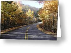 Road To Fall Greeting Card