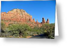 Road To Mother And Child Sedona Arizona Greeting Card