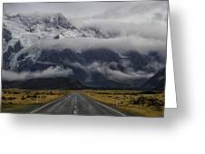 Road To Mt Cook Greeting Card
