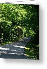 Road To Nature Greeting Card