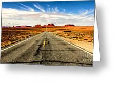 Road To Navajo Greeting Card