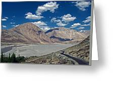 Road To Nubra Valley Greeting Card