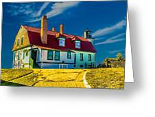 Road To Point Betsie Light Greeting Card