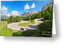 road to Pordoi pass Greeting Card