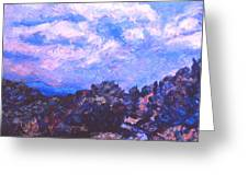 Road To Rocky Knob Greeting Card