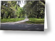 Road To Ruins Greeting Card