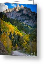 Road To Silver Mountain Greeting Card