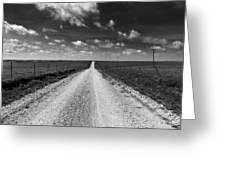 Road To Texaco Hill Greeting Card
