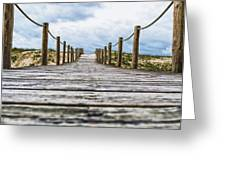 Road To The Dunes Greeting Card