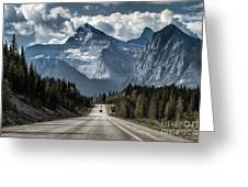 Road To The Great Mountain Greeting Card