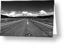 Road To The Horizont Greeting Card