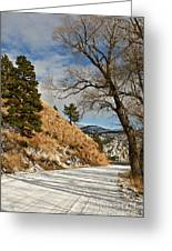 Road To The Lake Greeting Card