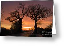 Road To The Night Greeting Card