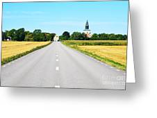 Road To The Village Greeting Card