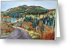 Road To Torloisk, 2008 Wc And Ink Greeting Card