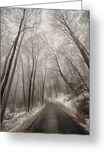Road To Winter Greeting Card