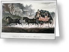 Road Travel/stagecoach Greeting Card