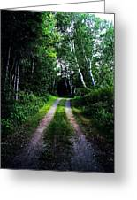 Road Trip- Back Country Road Greeting Card