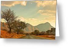 Road Trip Mountains Greeting Card