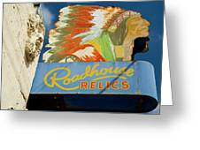 Roadhouse Relics Sign Greeting Card
