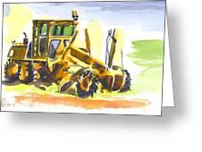 Roadmaster Tractor In Watercolor Greeting Card by Kip DeVore