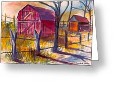 Roadside Barn Greeting Card