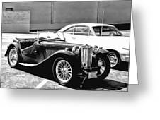 Roadster In Black And White Greeting Card