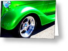 Roadster Wheels Greeting Card