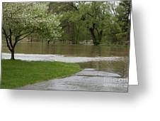 Roadway Turned Boat Launch Greeting Card